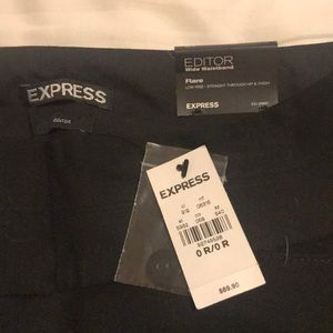 Express Editor flare low rise pant